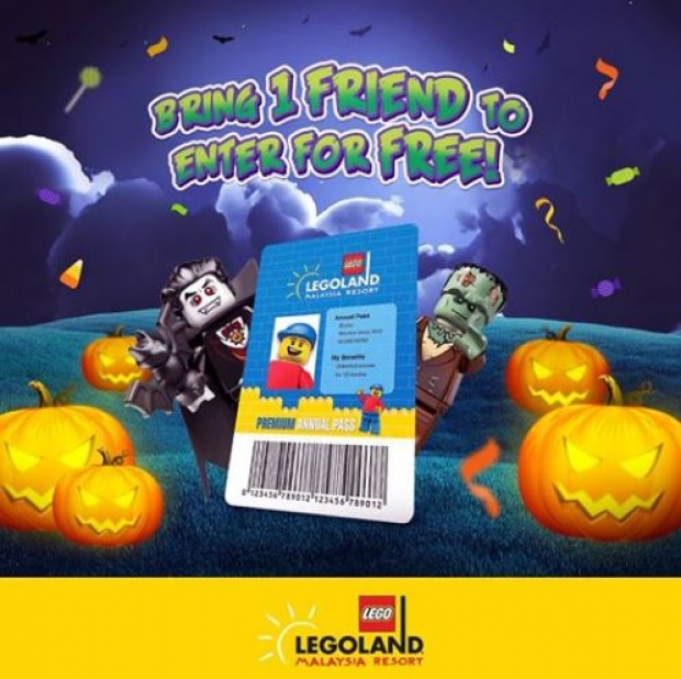 One Friend to Enter for FREE* in Legoland Malaysia this October