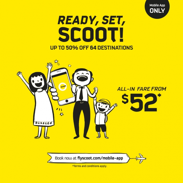 Enjoy Up to 50% Savings on your Next Flight with Scoot's Mobile App