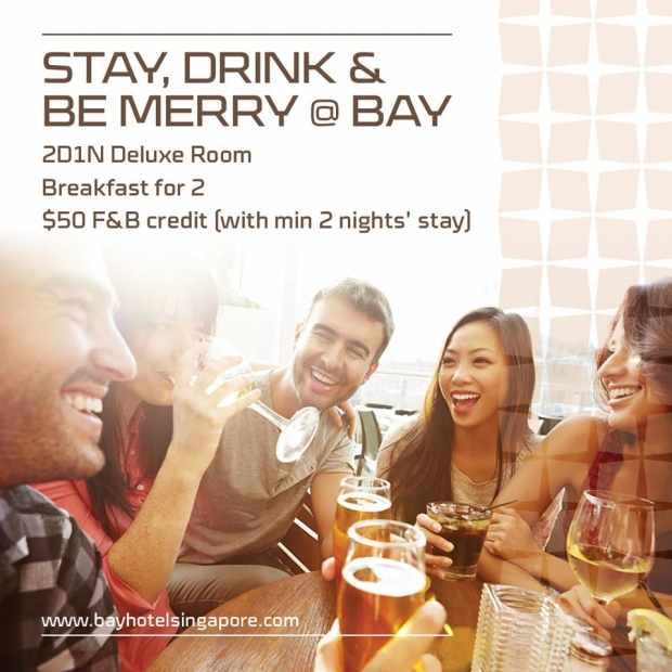 Stay, Drink and Be Merry in Bay Hotel Singapore from SGD150
