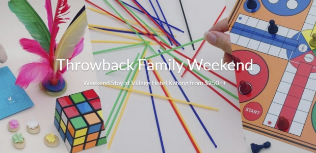 Throwback Family Weekend at Village Hotel Katong from $250++ via Far East Hospitality