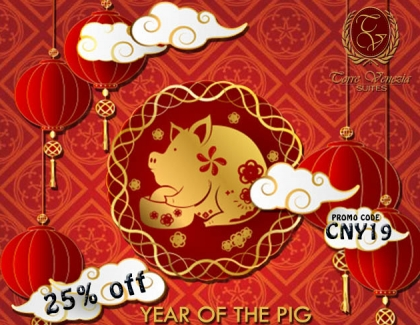 Chinese New Year Promo: Year of the Pig 2019