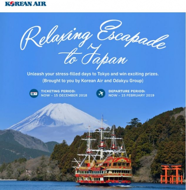 Relaxing Escapade to Japan with Korean Air