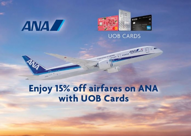 Get 15% Off Flights in All Nippon Airways with UOB Cards