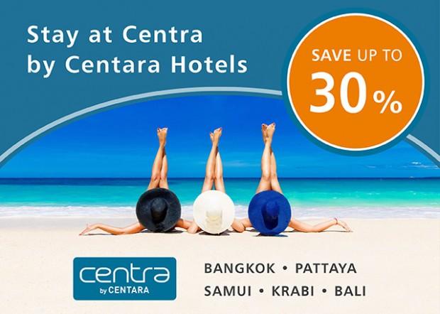 Stay at Centra by Centara Hotel in Bangkok, Bali and More Destinations