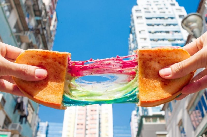 Rainbow Cheese Toast