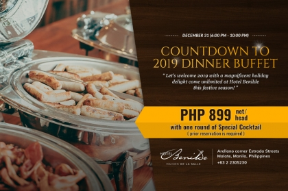 Countdown to 2019 Dinner Buffet