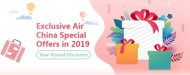 Exclusive Discount in Air China Website: Up to 6% Discount all year round