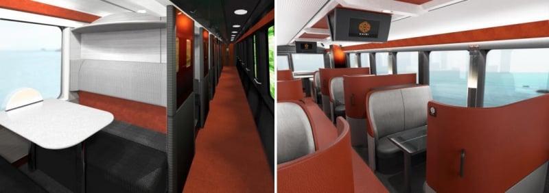 Interiors of kairi joyful train