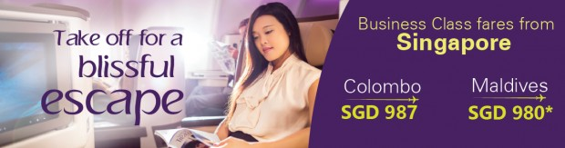 Business Class Fares to Colombo and Maldives with SriLankan Airlines