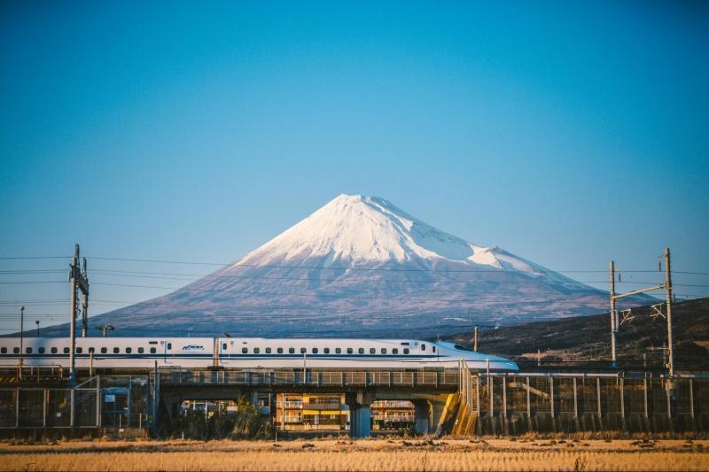 japan shinkansen train mg fuji