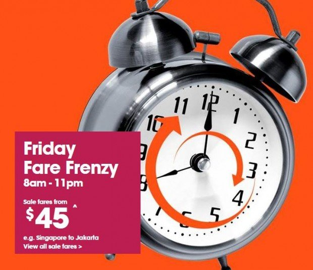 Fly Around Asia from SGD45 with Jetstar's Friday Fare Frenzy