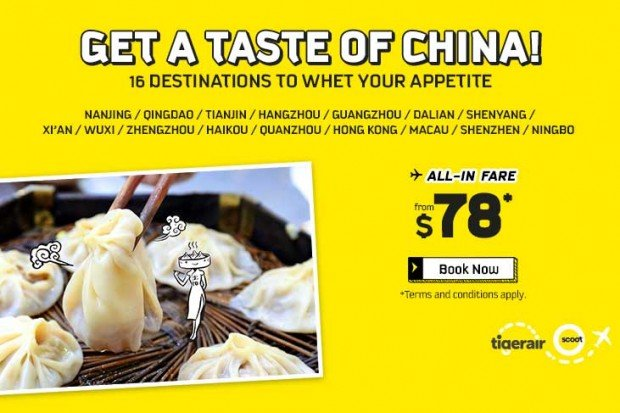 Explore China from SGD78 with Scoot