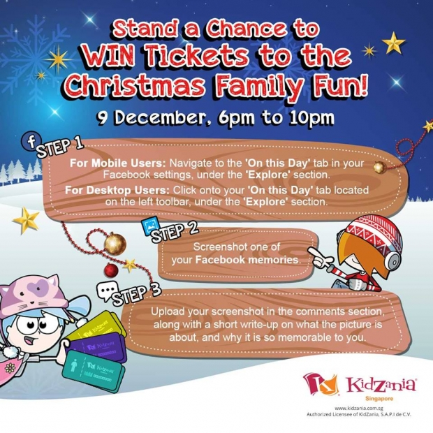 Stand a Chance to WIN Tickets to Christmas Family Fun in KidZania Singapore