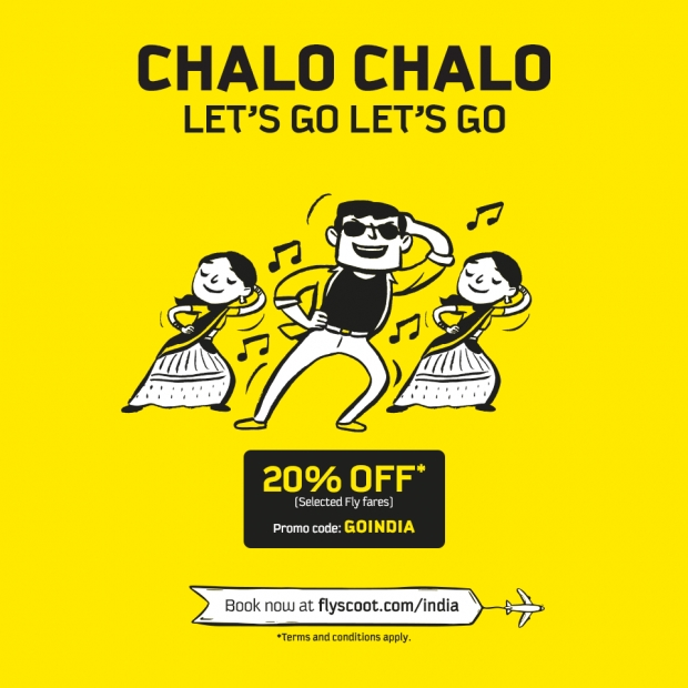 Let's Go to India with Up to 20% Off Fares in Scoot