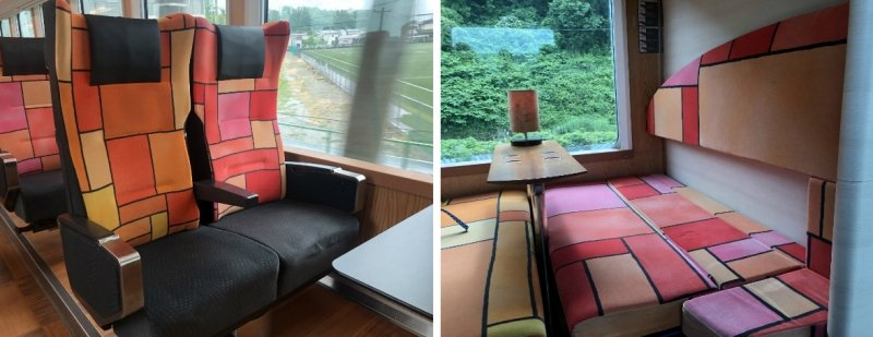 resort shirakami joyful train interior