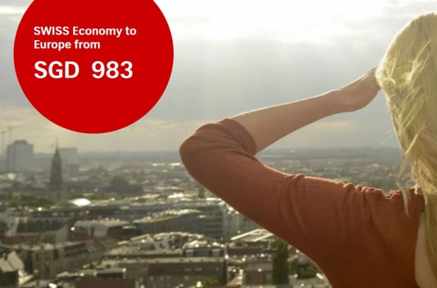 Special Promotion to Europe from SGD983 with Swiss Air