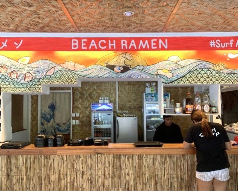 restaurants in siargao: beach ramen