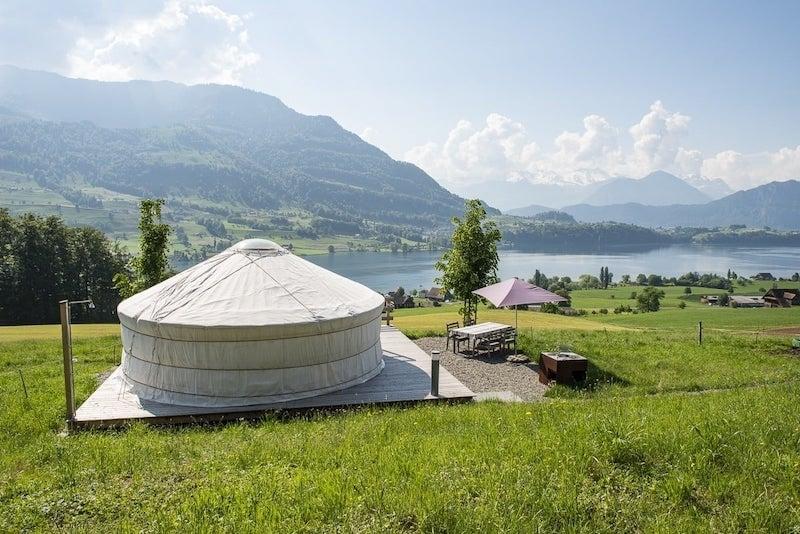 Yurt Airbnb Near Lake Lucerne in Switzerland