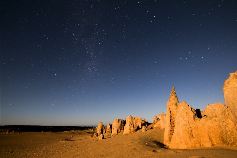 Pinnacles Desert at dusk