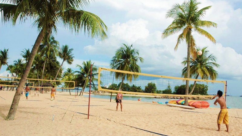 sentosa beach courts