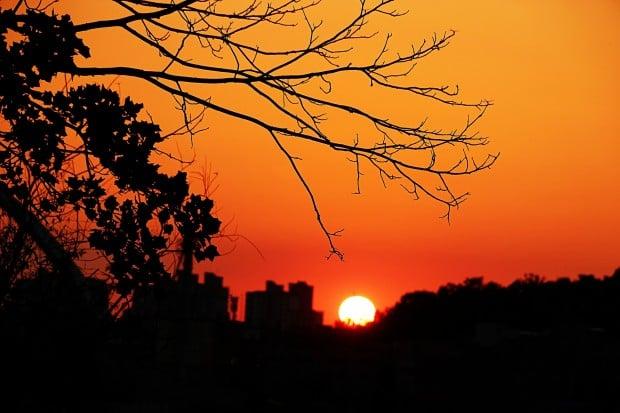 autumn sunset in seoul
