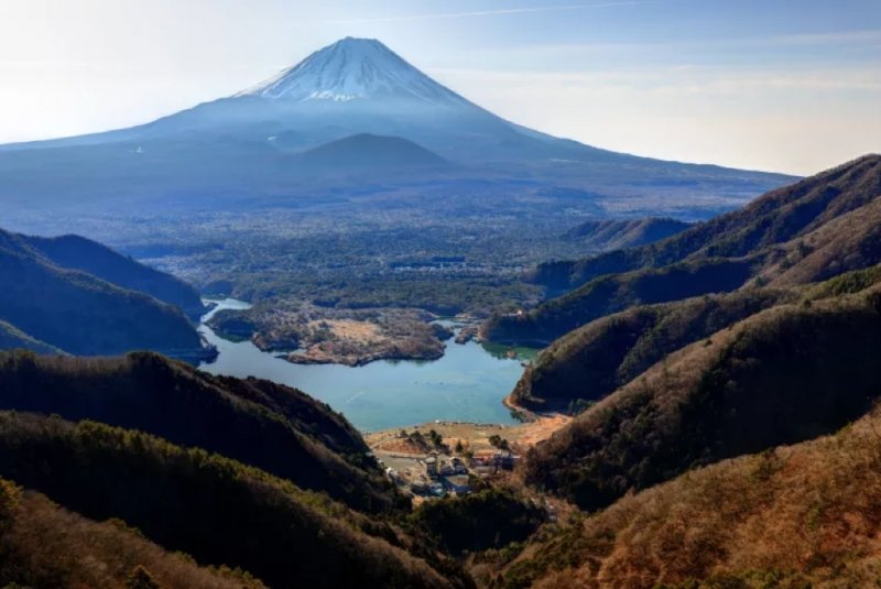 landscape view of mount fuji