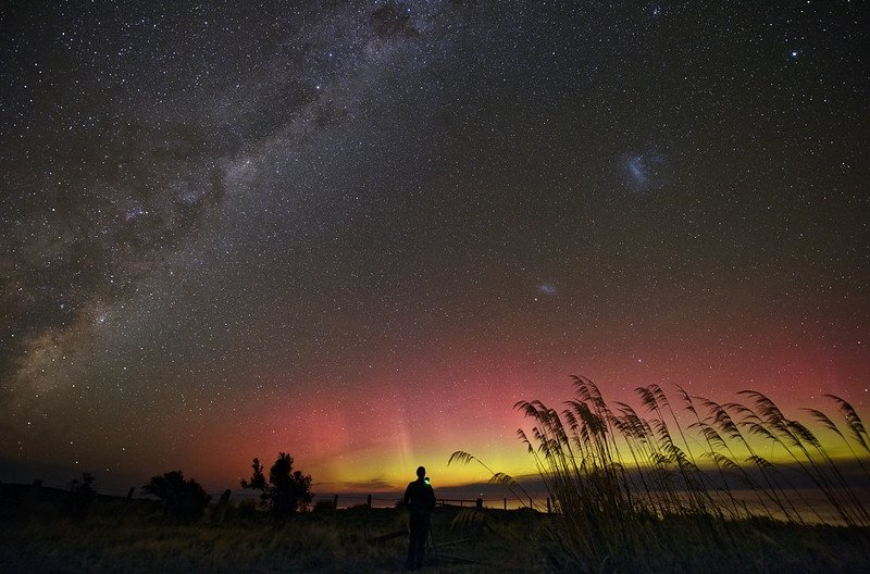 Aurora Australis in Little River, Canterbury