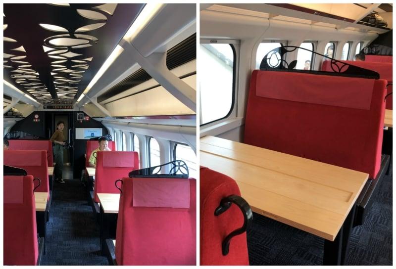 toreiyu tsubasa joyful train interior