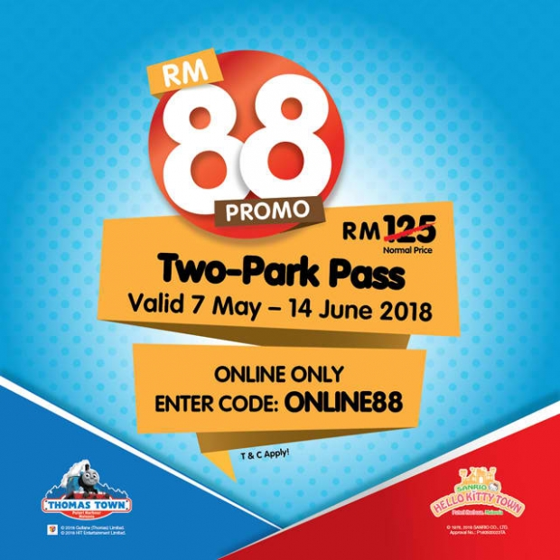 RM88 for Two-Park Pass in Puteri Harbour