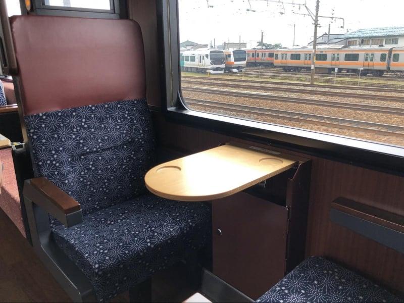homely interior in oykot joyful train