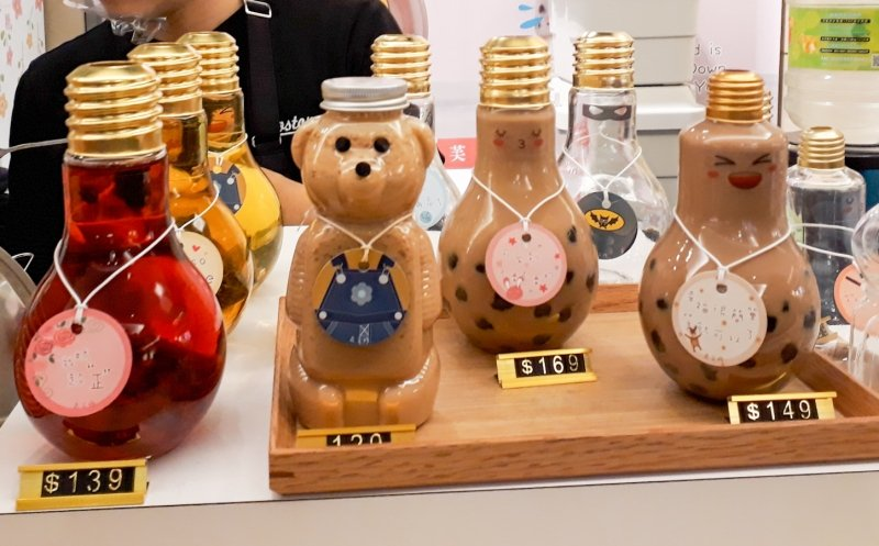 milk tea bottles