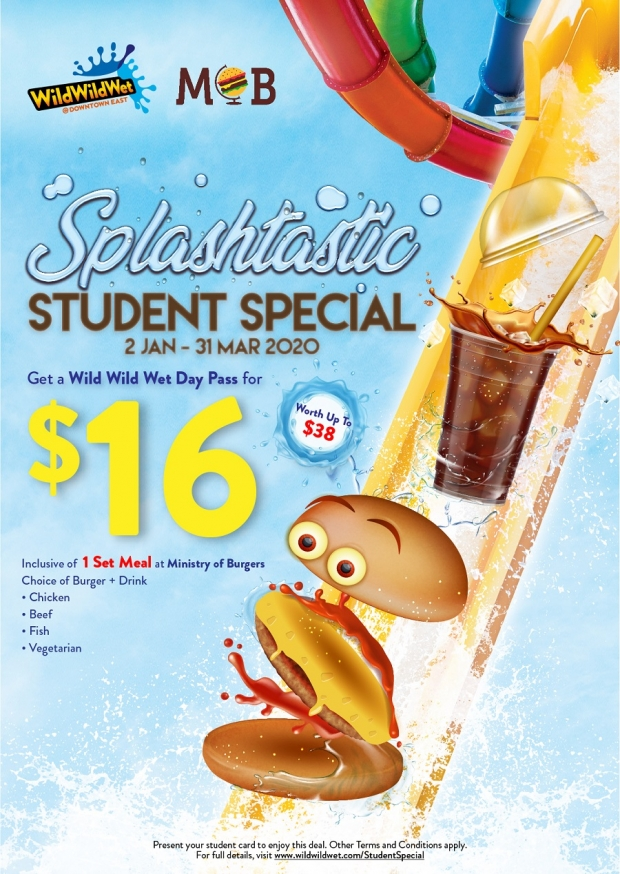 Student Special Deal in WIld Wild Wet from SGD16