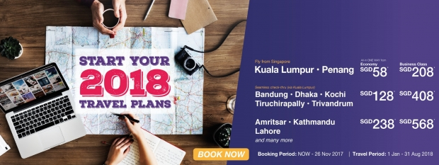 Start your 2018 Travel Plans with Malindo Air from SGD10