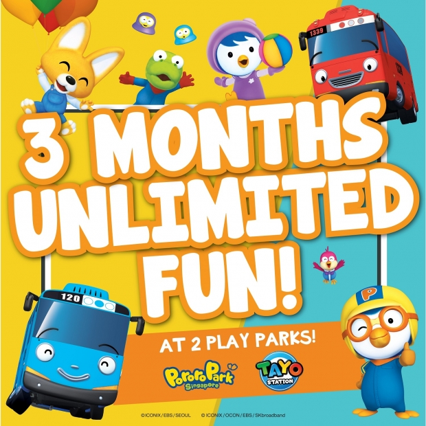 3 Months Unlimited Playtime at Pororo Park Singapore