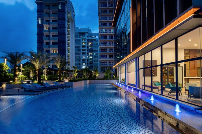 poolside view of citadines balestier singapore
