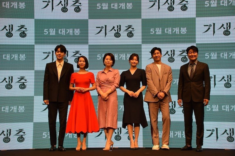 The cast of Parasite