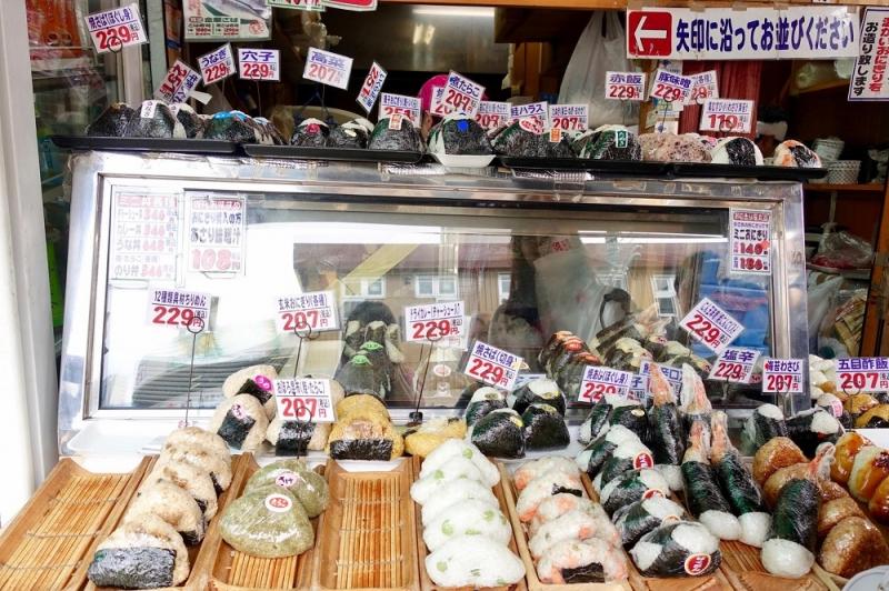 onigiri chợ Tsukiji
