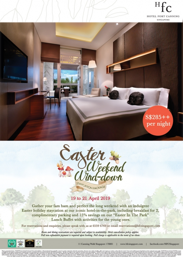 Easter Weekend Wind-down at Hotel Fort Canning