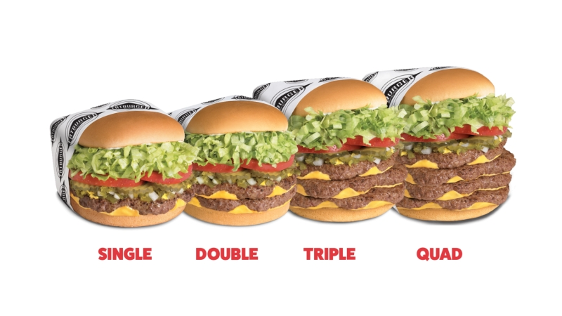 Different sizes of the Fatburger