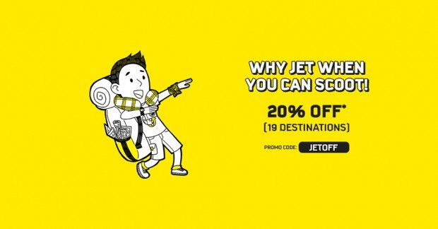 Enjoy 20% Airfares with Scoot | Act Fast, Promo ends Tonight!