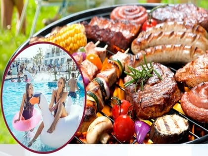 BBQ Grill and Pool Party
