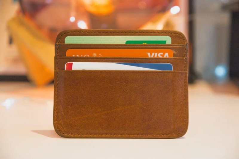 card holder filled with credit cards