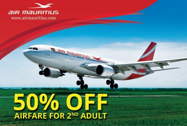 50% Off Package in Air Mauritius for Chinese New Year and Valentine's Day