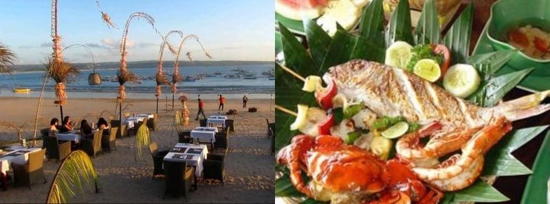 Bawang Merah Beachfront Restaurant Jimbaran