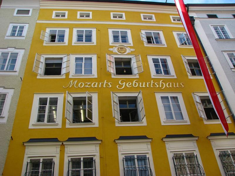nơi sinh của nhà soạn nhạc Mozart tài ba.