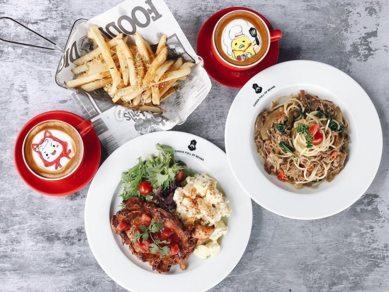 brunch places in singapore Chock Full of Beans