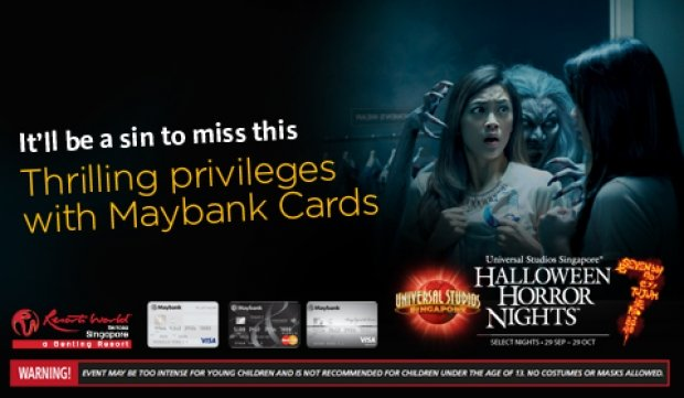 Enjoy a Complimentary Tickets to Halloween Horror Nights™ 7 with Maybank Card