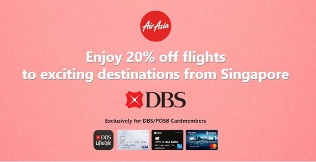 Enjoy 20% Off Flights to Exciting Destinations with AirAsia and DBS Card