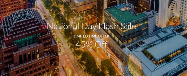 National Day Flash Sale with 45% Savings with Far East Hospitality