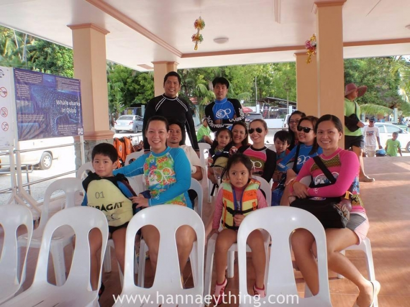 orientation before swimming with the Oslob Gentle Giants